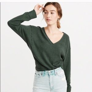 Abercrombie & Fitch waffle top XS